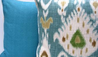 Turquoise Ikat pillow