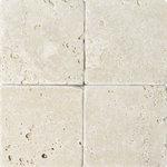 "MARBLE SYSTEMS - 6""x6 "" Ivory Tumbled Rustic Tile - *Beautiful Beige Travertine Tiles."