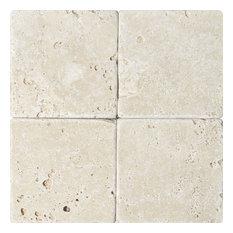 "6""x6 "" Ivory Tumbled Rustic Tile"