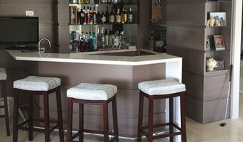 Penthouse Home Bar Cabinetry Design