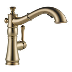 Delta Cassidy Single Handle Pull-Out Kitchen Faucet, Champagne Bronze