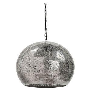 Pierced Metal Sphere Pendant, Nickel