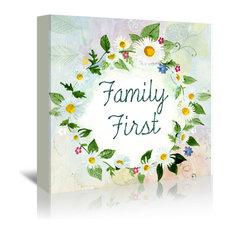 """Family First Flower, 32""""H x 48""""W x 1.5""""D"""
