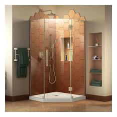 """Dreamline Prism 34""""x34"""" Dframeless Shower Enclosure With Shower Base"""