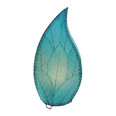 Outdoor Indoor Leaflet Lamp, Sea Blue
