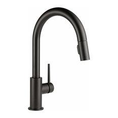 Delta Trinsic Single-Handle Sprayer Kitchen Faucet, Matte Black