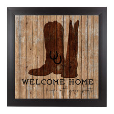"""Welcome Home, 9""""H x 9""""W x 1""""D"""