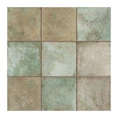 "SomerTile 13.12""x13.12"" Royals Etna Ceramic Floor and Wall Tile, Sage Green"