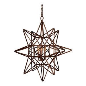 Star Copper Chandelier, Small