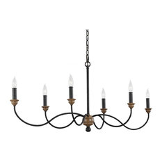 Murray Feiss Hartsville Six Light Chandelier F3000/6DWZ/WO