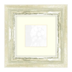 Ivory with Moss Silver picture frame, 24x24