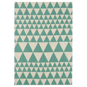 Onix Triangles Teal Rectangular Rug, 160x230 cm