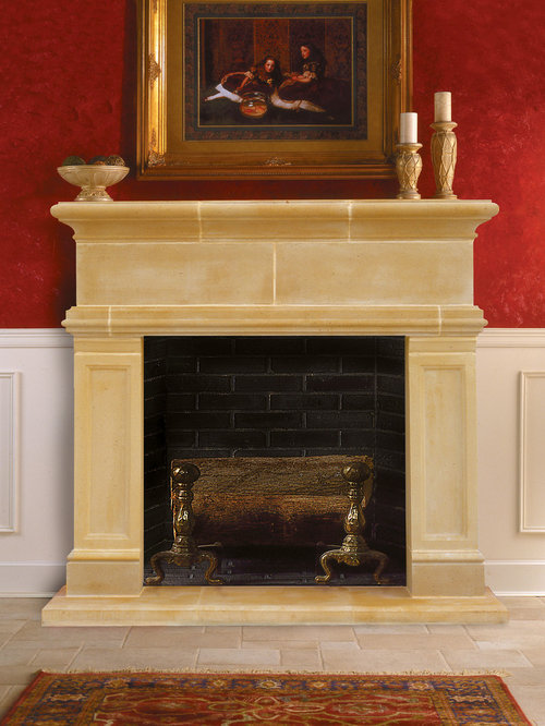 Windsor Cast Stone Fireplace Mantel - Indoor Fireplaces - Cast Stone Fireplace Mantels