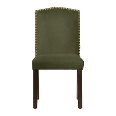 Powell Nail Button Camel Back Dining Chair, Regal, Green