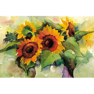 Painted Sunflowers Gallery Door Mat, Small