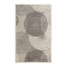 "Graphic Illusions Rug, Gray, 7'9""x10'10"""