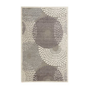 "Graphic Illusions Rug, Gray, 7'9""x10'10"""