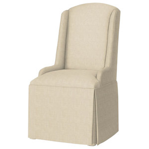 Daniella Petite Wing Back Skirted Parsons Chair