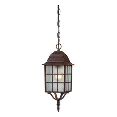 """Adams 1 Light - 16"""" Outdoor Hanging With Frosted Glass"""