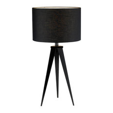 Adesso   Adesso Director Table Lamp, Black   Table Lamps