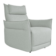 Maja Power Reclining Chair With Power Headrest And Arm Blue