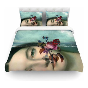 Kess InHouse Suzanne Carter Night Sky Featherweight Queen Duvet Cover 88 x 88,
