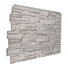 Faux Stacked Stone Wall Panel  - Grey