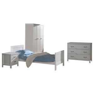 Lewis 4-Piece Room Set With 3-Door Wardrobe
