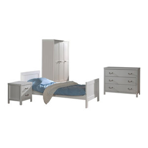 Lewis 4-Piece Room Set With 3-Door Wardrobe