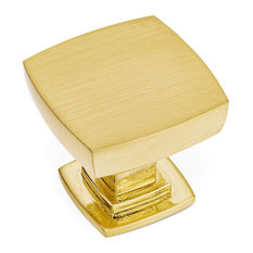[10-PACK] Cosmas 5232BB Brushed Brass Square Contemporary Cabinet Knob