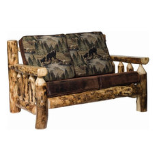 Rustic Aspen Log Living Room Love Seat