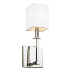 Quinn 1-Light Wall Sconce, Polished Nickel