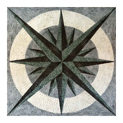 "Nautical Mosaic Square - Doriis, 24""x24"""