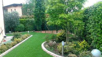 garden design e ghiaie con resine