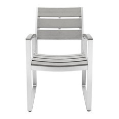 walker edison allweather patio dining chairs set of 2 gray