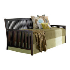 fashion bed group mission complete wood daybed with link spring and trundle bed pop