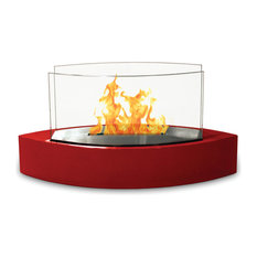 Lexington Tabletop Fireplace, High Gloss Red Paint