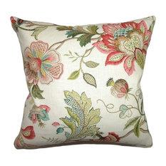 "Adele Crewels Pillow, Multi, 20""x20"""
