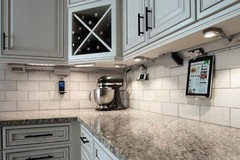 LED Under-cabinet Lighting with Outlets for Kitchen