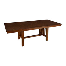 "A-America Laurelhurst 92"" Rectangular Trestle Table With 2 Self-Storing Leaves"