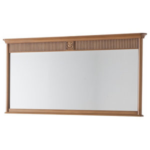 Classic Rectangular Mirror With Frame, Merlot Red