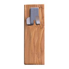 Wall-Mounted Olive Wood Razor Holder