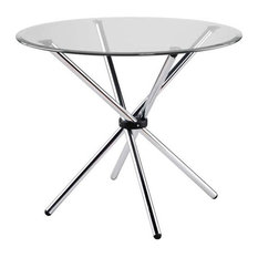 dining tables round glass. euro style - hydra round glass dining table with chromed steel base tables \