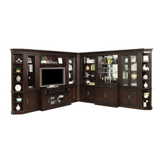 Stanford L Shape Entertainment Wall With Bar 11 Piece Set