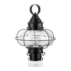 Cottage Onion 1 Light Post Light or Accessories in Black
