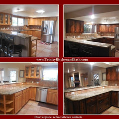 Refacing Before / After. 2 photos. Tucson, AZ. Kitchens
