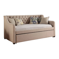 Fully Wind Co., Ltd. - Selina Daybed with Trundle, Beige - Daybeds