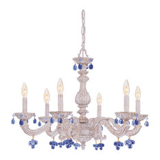 Crystorama Lighting Group 5226 Abbie 6 Light Candle Style Chandelier with Muran