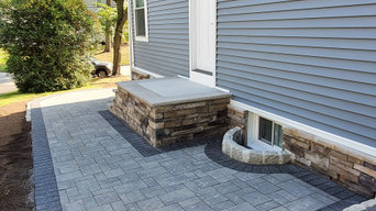 Cedar Grove - Patio, steps and walkways with brick pavers and culture stones