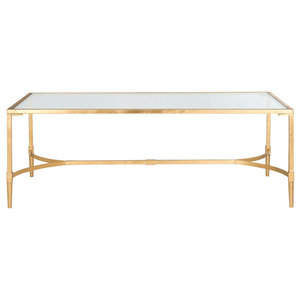 Safavieh Chase Coffee Table, Gold and Clear Glass